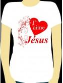"""T-Shirt """"J'aime Jésus"""" - Taille L"""