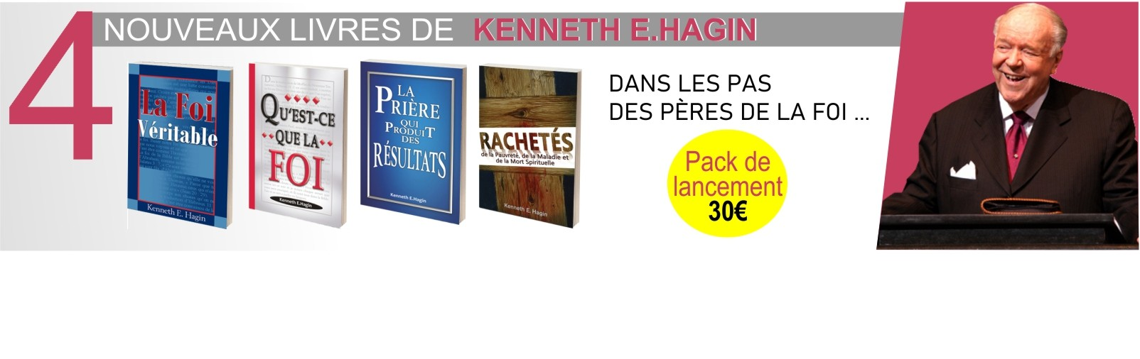 4 BROCHURES KENNETH HAGIN
